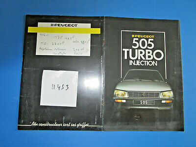 N°11453  /  catalogue PEUGEOT 505 turbo injection 1986