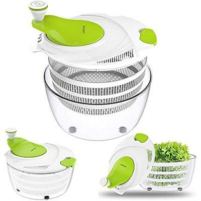 Salad Spinners Spinner Dryer,LOVKITCHEN Vegetables & Fruits With Large 4 Quarts