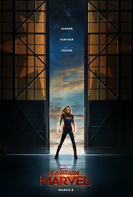 Captain Marvel 27x40 Original D/S Movie Poster Teaser One Sheet Brie Larson US