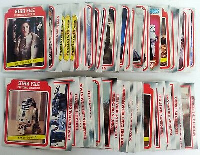 STAR WARS Empire Strikes Back Lot of 100 Topps Red Series 1 Cards 100 Different