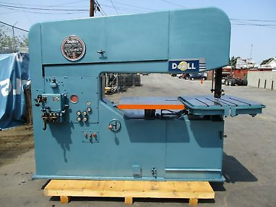 "60"" Doall Model 60-3 Vertical Band Saw 40 - 9000 Fpm Loaded With Options!"