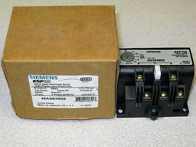Siemens 48ABA3M20 Panel Mount Overload 0.75 - 3A