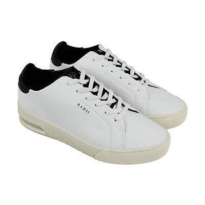 Radii Square Mens White Leather Lace Up Sneakers Shoes