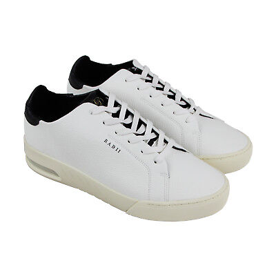 Radii Square Mens White Leather Low Top Lace Up Sneakers Shoes