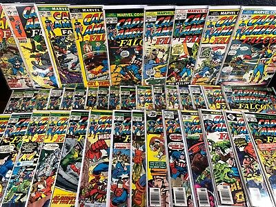 40 Comic Lot CAPTAIN AMERICA AND FALCON 136-217 Bronze 1st Series Kirby Avengers