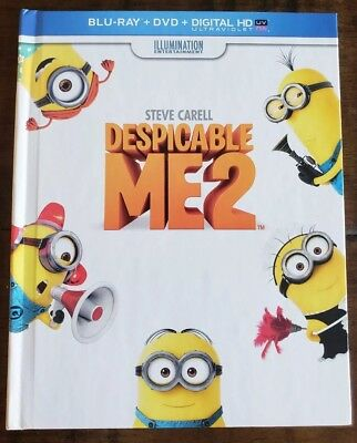 Despicable Me 2 Digibook (Blu Ray, DVD, 3-Disc) Target Exclusive with Bonus Disc