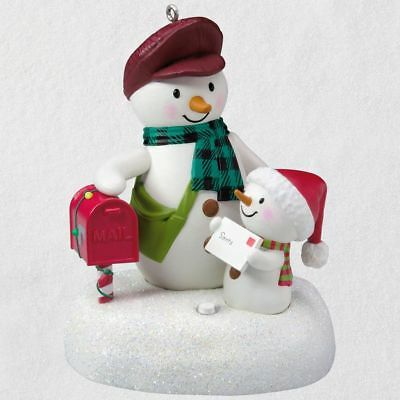 Hallmark Keepsake 2018 Special Delivery Snowmen Musical Ornament