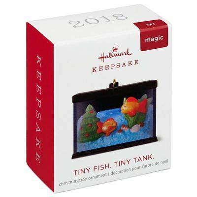 Hallmark Keepsake 2018 Mini Tiny Fish. Tiny Tank. Ornament With Light, 1.18""