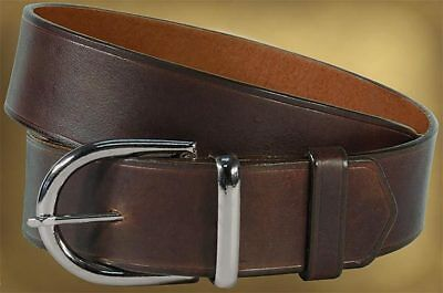 Indiana Jones Leather Brown Weapons Belt Mens Metal buckle Size 30-32