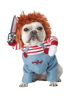 California Costumes Deadly Doll Chucky Inspired Dog Costume Pet 20157
