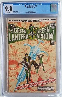 Green Lantern #86 CGC 9.8 White Pages Neal Adams Drug isssue