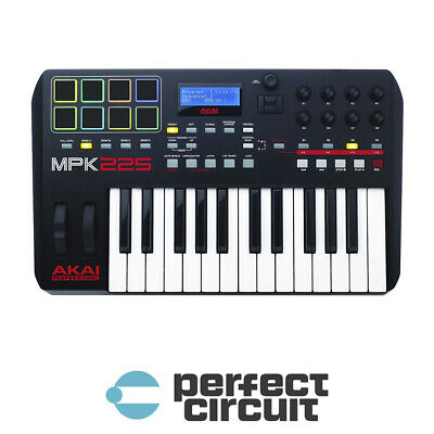 AKAI MPK225 MPK2 25 Note MIDI Keyboard CONTROLLER - NEW - PERFECT CIRCUIT