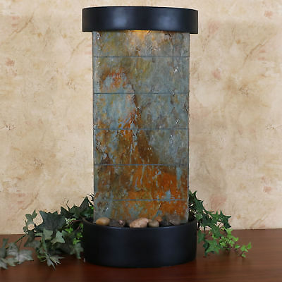 Sunnydaze Indoor Tabletop Or Wall Water Fountain   Natural Slate   25 Inch