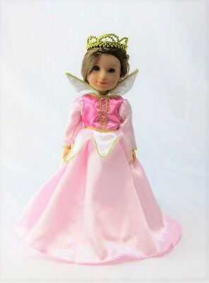 """Sleeping Beauty Gown Costume Fits Wellie Wisher 14.5"""" American Girl Clothes"""