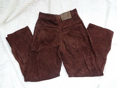 "Vintage 50s 60s Carters corduroy Brown Pants  ""Watch the Wear"" Kids Size 8 rare"