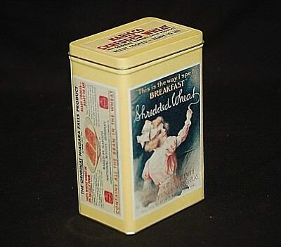 Vintage '92 Advertising Ad Shredded Wheat Nabisco Biscuit Co Litho Metal Tin Can