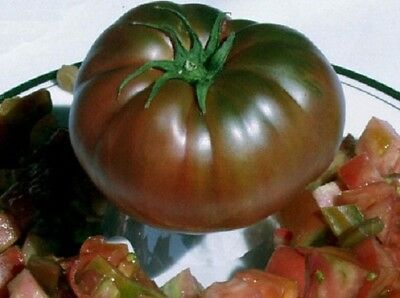 "Organic Seeds Heirloom Vegetable Tomato ""Black Prince"". 30 Seeds."