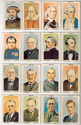 Nabisco Vita-Brits Crispies - Famous People & Places (1949) - 27 Collector Cards