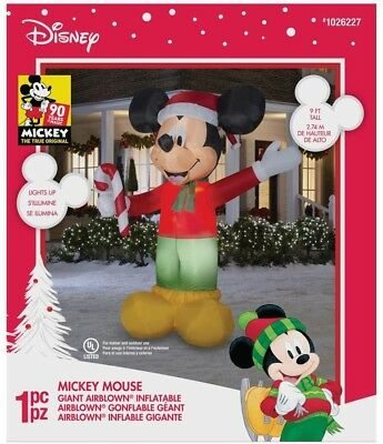 disney mickey mouse lighted christmas giant airblown inflatables yard decor - Disney Christmas Inflatables