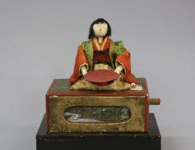Karakuri doll / Mechanical doll Middle of the Edo period Japanese Antique F/S