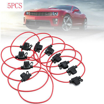 5pcs In Line mini Blade Fuse Holder Splash Proof for 12V 30A Fuses Car Bike 27cm