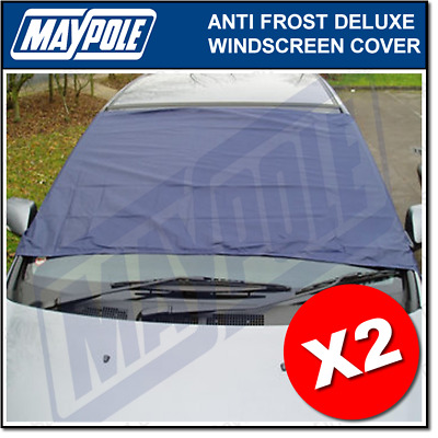2x Anti Ice, Frost & Snow Winter Windscreen Covers Screen Protectors / No Deicer