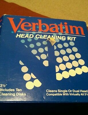"Verbatim 3.5"" inch Head Cleaning Kit with free post.  Vintage 1990's"