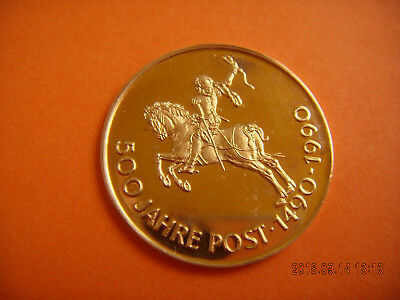 Gold Medaille 500 Jahre Post 1490 - 1990 Proof Thurn & Taxis