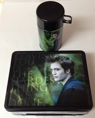 The Twilight Saga New Moon EDWARD Tin/ Metal Lunch Box w/ Thermos NEW