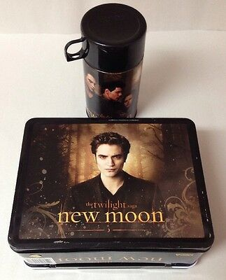 The Twilight Saga New Moon EDWARD BELLA JACOB Metal Lunch Box w/ Thermos New