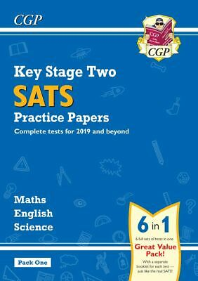 KS2 SATs PRACTICE TESTS ENGLISH MATHS SCIENCE 6-IN-1 PACK 1 FROM 2020 ONWARDS