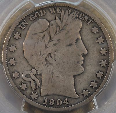 1904-S Barber Half Dollar PCGS VG10 As Close as you can get without being a F!