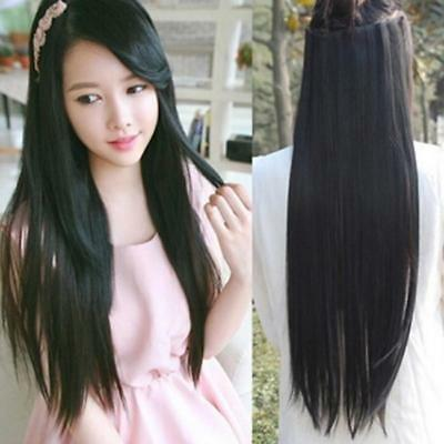 Long Synthetic Lace Front Wig Heat Resistant Straight Hair Women's Wigs 6A