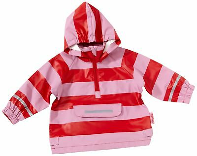 Playshoes Stripes Boys Rain Coat Red (Red/Rose) 92 cm