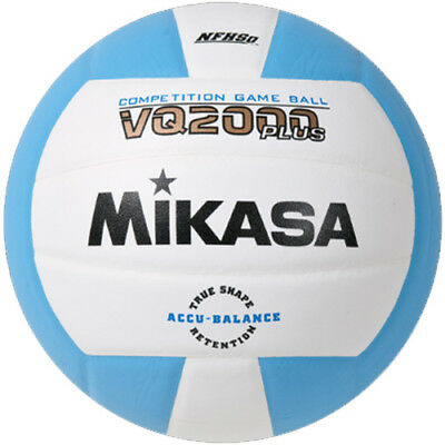 Mikasa VQ2000 Volleyball - Columbia Blue/White
