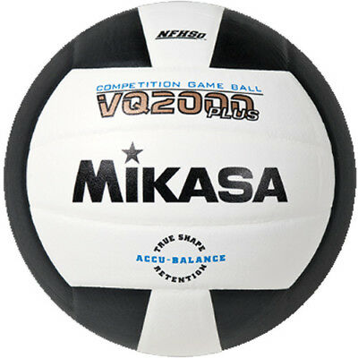 Mikasa VQ2000 Volleyball - Black/White