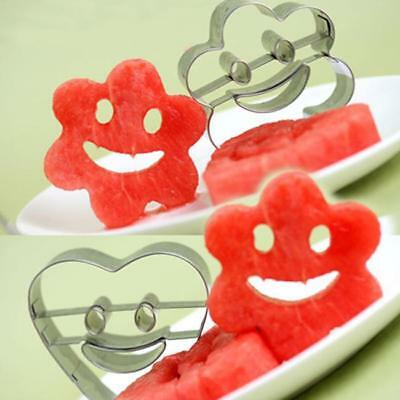 Smiley Face Cutters, 4 Piece Set, Stainless Steel, For Cookies, Cake Decor 6A