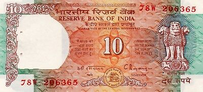INDIA 10 Rupees 1997 P88f Letter D UNC Banknote