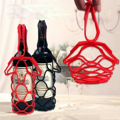 Wine Bottle Holder Silicone Nets Bags Mention Storage Bottles Carrier Pad Tray