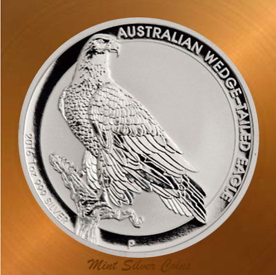 Rare: 1 oz. 9999 Silver Coin ... 2016 WEDGE TAIL EAGLE ...109,366 Mintage ... #2