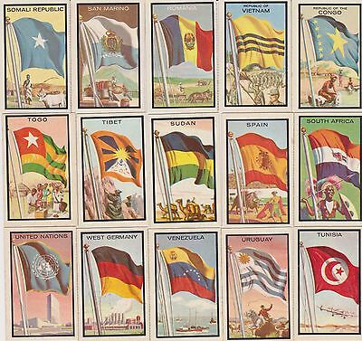 SET BREAK 1963 Topps Midgee Flags~ PICK ONE CARD/MORE NO CREASES NICE