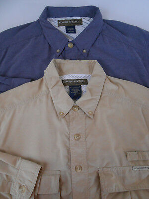 ExOfficio Mens Lot of 2 L/S Vented Adventure Shirts Small NICE