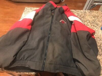 Vintage Red Dog Beer Lightweight Polyester Windbreaker Jacket Size XL