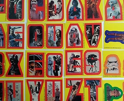 Star Wars Empire Strikes Back Series 1 Yellow Sticker Topps 1980 Complete Set 33