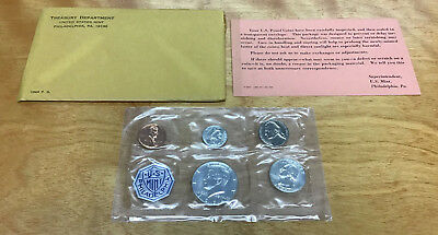 1964 Proof Set 5-Coins In Original Plastic With Outer Envelope