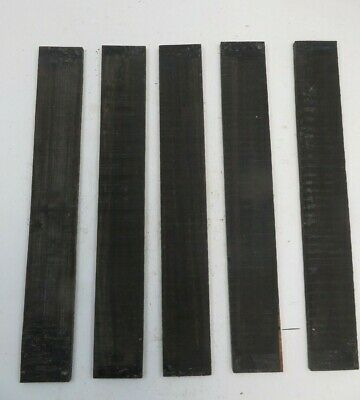 "(5) LOT OF 5 GABOON EBONY GUITAR/LUTHIER/ FINGERBOARD BLANK 21"" x 2.95""  Lot # 4"