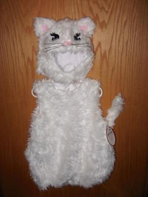 NWT Pottery Barn Kids WHITE KITTY CAT Child Halloween Costume Size 4-6 ~ 2 Piece