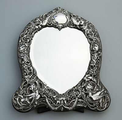 Antique Solid Silver V fine large quality William Comyns novelty Mirror C.1905