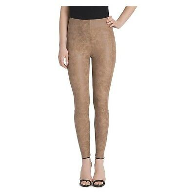 Lysse 5014 Womens Saddle Brown Buffed Faux Suede Leggings Size Large