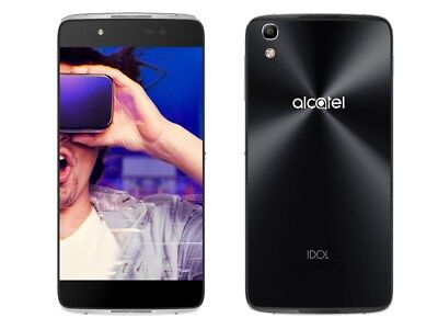 Black Non Working - Fake Dummy Display Phone Toy for Alcatel Idol 4